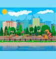 kids playground kindergarten panorama vector image vector image