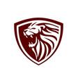 lion shield design inspiration vector image vector image