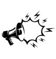 megaphone with place for text discounts and sales vector image