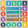 Mobile phone icon sign Set of twenty colored flat vector image