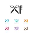 of hairdresser symbol on vector image vector image