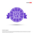photo icon - purple ribbon banner vector image