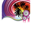 rainbow beach party vector image vector image