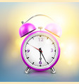 realistic alarm clock background vector image