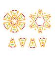 rosh hashanah symbols rosettes vector image