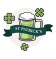 saint patrick day isolated icon beer or ale in mug vector image vector image