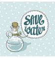 Save water eco card vector image vector image