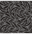 Seamless doodle black peacock feathers pattern vector image
