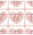 Seamless pattern with heart and lettering vector image vector image