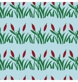 Seamless pattern with reed in water vector image