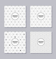 set of 4 abstract frames and seamless patterns vector image vector image