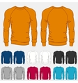 Set of colored sweatshirts templates for men vector image vector image