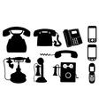 set telephones vector image