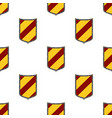 shields seamless pattern guard security logo vector image