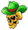 skull pimp design art vector image vector image