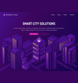 smart city metropolis isometric landing page vector image vector image