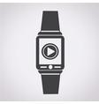 smartwatch wearable icon vector image vector image