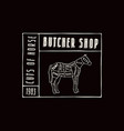 stock horse cuts diagram vector image vector image