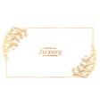 stylish floral ornamental frame decoration border vector image