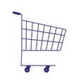 supermarket shopping cart commerce isolated design vector image