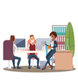 team work in office workplace happy coworker vector image vector image