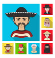 the human race flat icons in set collection for vector image