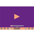 video player template for web and mobile apps vector image vector image
