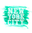 Vintage new york typography t-shirt graphics vector image vector image
