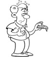 Cartoon Man Overeating vector image
