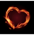 fire heart vector image