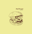 a burger drawing vector image vector image