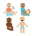 Baby kids emotions vector image vector image