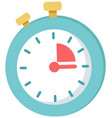 blue round stopwatch with red arrow high speed vector image vector image