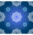 Blue winter ornament simillar vector image