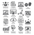 Business management icons Pack 24 vector image vector image