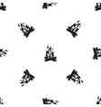 campfire pattern seamless black vector image vector image