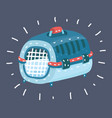 carrying case cage pet box vector image