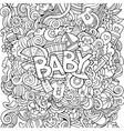 cartoon hand drawn doodle baby vector image
