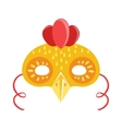 Chicken Animal Head Mask Kids Carnival Disguise vector image vector image
