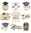 class of 2019 badge vector image vector image