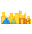 colored cityscape of mexico city vector image vector image