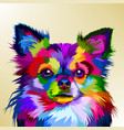 colorful chihuahua dog in pop art style vector image vector image