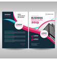 corporate brochure cover template with pink vector image