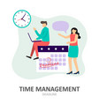 deadline time management effective time spending vector image vector image