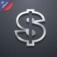 Dollar icon symbol 3D style Trendy modern design vector image