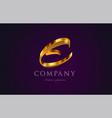 e gold golden alphabet letter logo icon design vector image