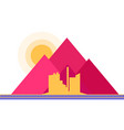 factory mountain flat vector image