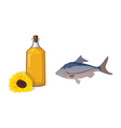 fish oil vector image vector image