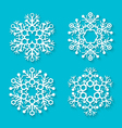 flat white snowflakes set vector image