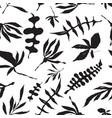 Floral foliage seamless pattern